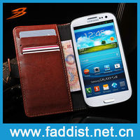 leather flip case for Samsung Galaxy S3 i9300 luxury wallet case