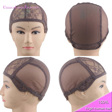 Brown Wig Caps for Making wig with Adjustable Strap and Combs Full Lace Wig Weaving Cap