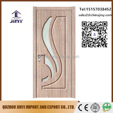 jiangshan hdf wood glass door leaves design catalogue With Professional Technical Support