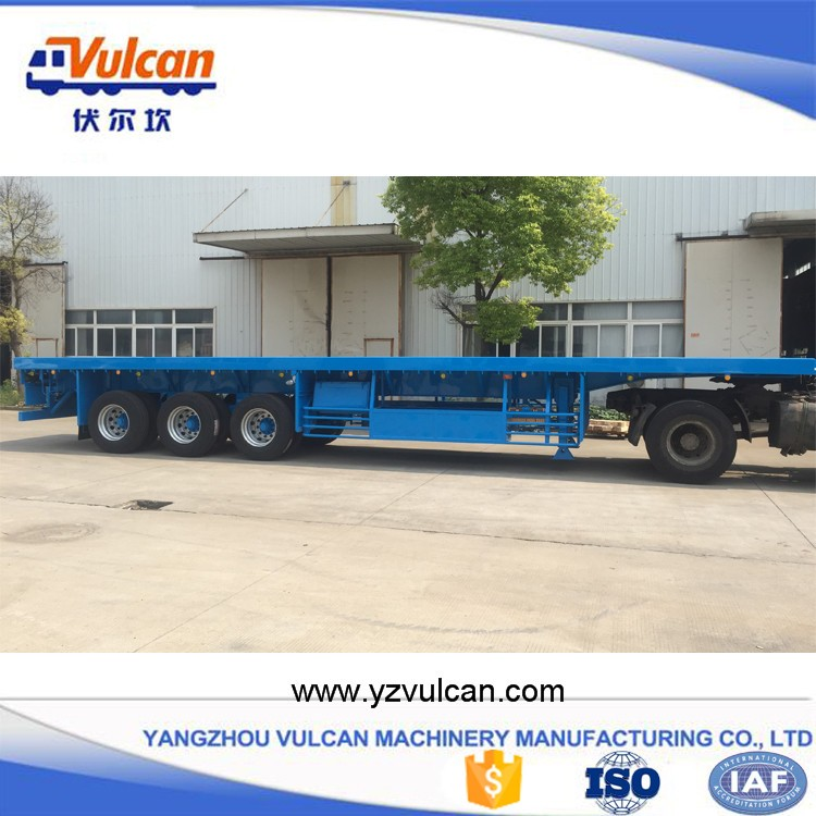 Manufacturer cheap tri-axle flatbed semi trailers for sale