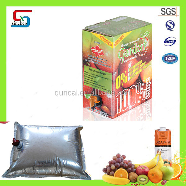 FDA approved factory food safe apple juice bag in box