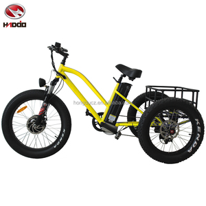 500w electric tricycle with passenger seat fat tire beach bicycle