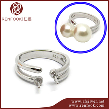 Renfook wholesale jewelry fashion 925 sterling silver ring design for pearls