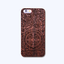 Nature Embossed Wood Phone Cases For iPhone 5 5s SE 6 6s Plus Funda Novel Carving Wooden Case PC Cover Hard Shell Capa