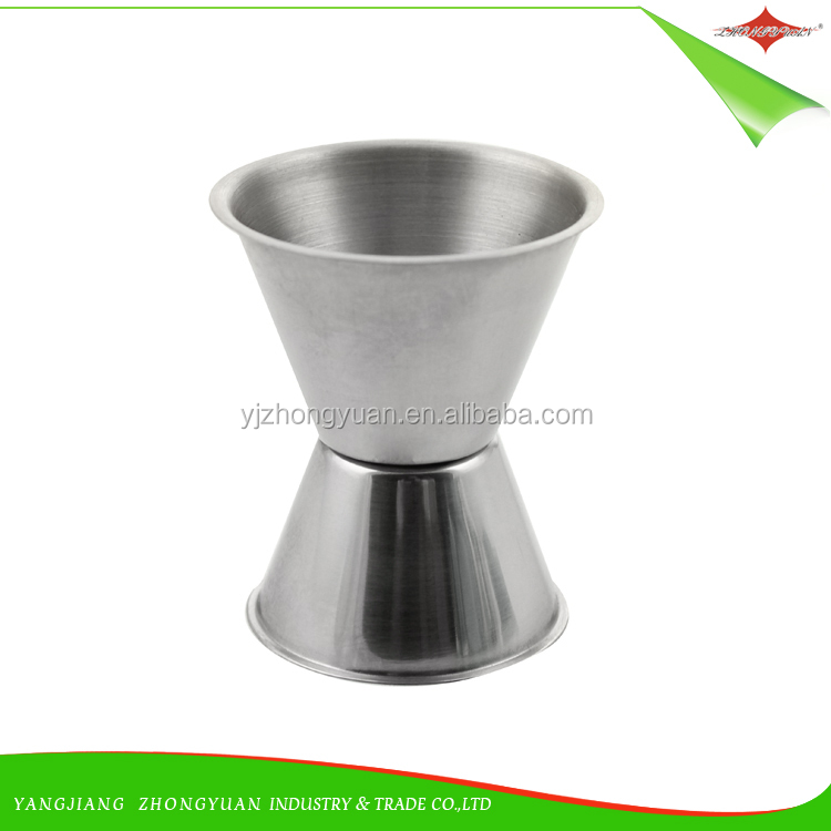 ZY-F1446 Stainless Steel wine Jigger Double Bar Measures cup
