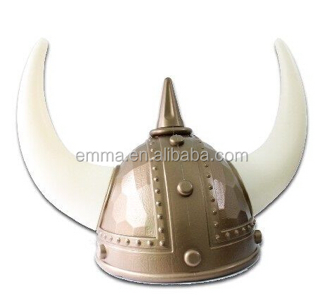 Newest fashion Viking Norse Raider Helmet with white Horns Medieval Roman Gladiator Party Hat wholesale HT2472