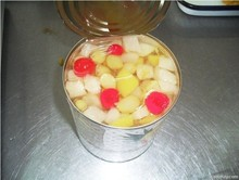 Wholesale size cheap canned fruit cocktail in light syrup, mixed fruit cocktails supplier