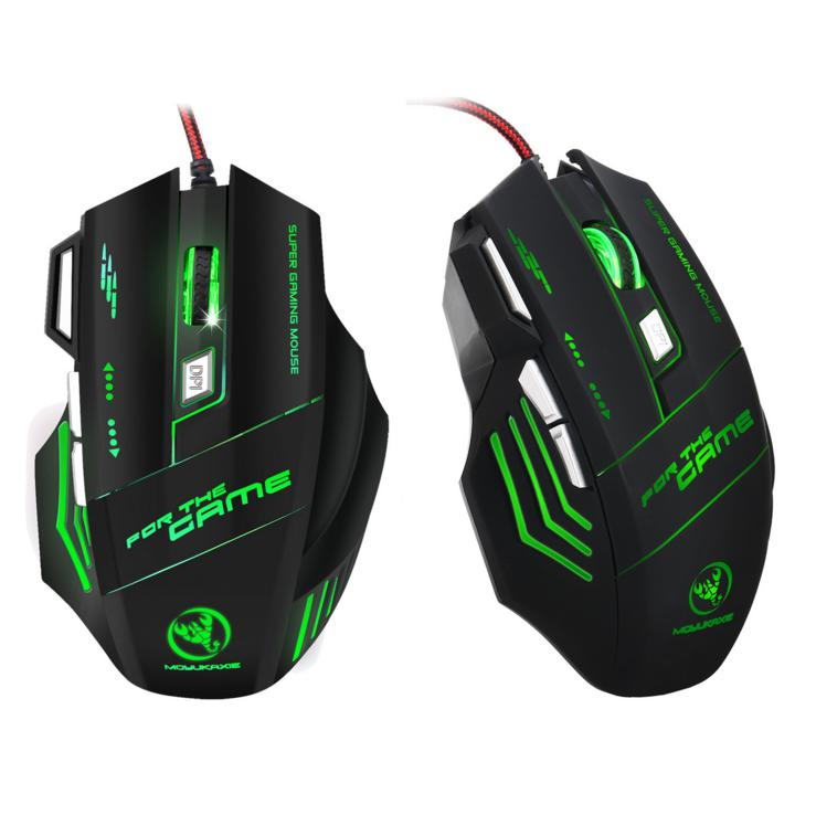 HXSJ <strong>H100</strong> 5500DPI Professional Wired Optical Gaming Mouse with Exchanged Mode Breathing Light Wired Mouse for Desktop