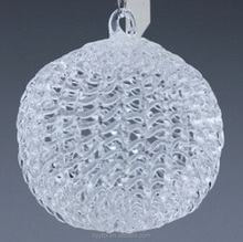 wholesale large twinkling cystal glass balls hanging decoration