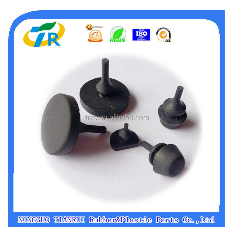 push on feet vibration damper black silicone stand-off rubber bumpers