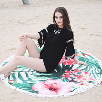 fabrics textiles custom beach towel microfibre towel round towel