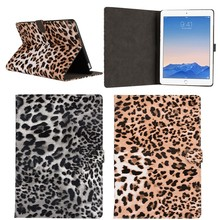 New arrival leopard texture leather tablet skin case for iPad Pro 9.7 inch,for ipad pro smart cover with sleep function