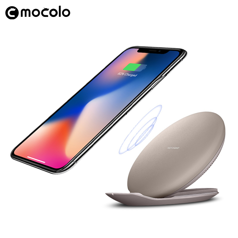 Mocolo Wholesale accessories for iphone 8 Stand Pad convertible wireless charger for iphone 8plus X