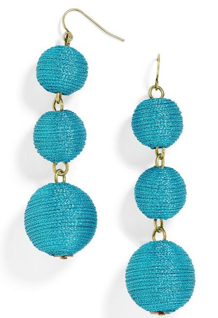 Fashion Jewelry Glimmery pom ball Shimmer Crispines Drops Earring