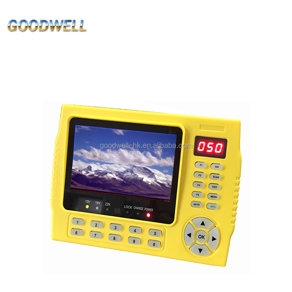 "Wholesale Handheld 4.3"" Digital LCD <strong>Satellite</strong> Signal Finder Support DVB-S/S2,MPEG-2/4 Display"
