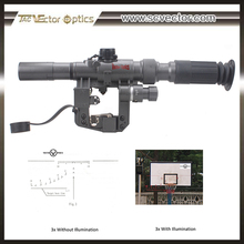 Vector Optics SVD Tactical Dragunov 3-9x24 FFP Riflescope Fit AK Series with Side Mount Rail
