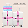 2016 New design colorful beautiful luggage packing strap with buckle