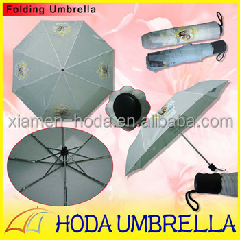 Three fold manual open and close indomie umbrella