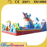 New product inflatable slide the city hot sale wholesaler