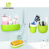 Plastic Bath Set Red Bathroom Accessories