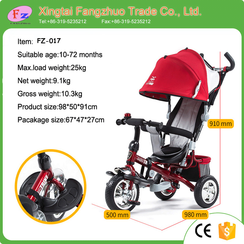Wholesale baby toy smart trike 3 wheel kids push tricycle