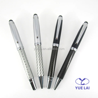 Luxurious metal touch pens with carbon fiber barrels