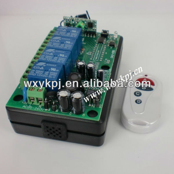 85V~220V 10A 4CH Channel RF Wireless Remote Control System Receiver & Transmitter 315-433MHZ