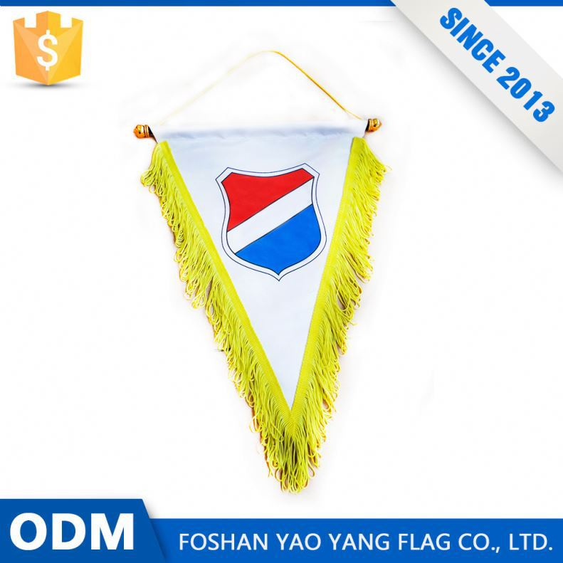 Custom School Flags Sport Club Pennant Flag Triangle Sport Banner