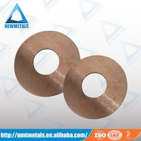 High quality W75 plate/ring/disc tungsten copper alloy electrodes for EDM