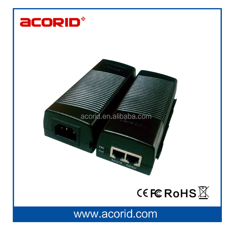 China IEEE 802.3af 48V dc dc Mini PoE Injector