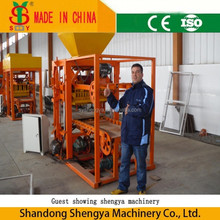 best quality QTJ4-26C cement sand hollow block making machines prices, concrete brick moulding machine with stacker