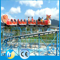 china supplier funfair ride electric toy roller coasters for kids