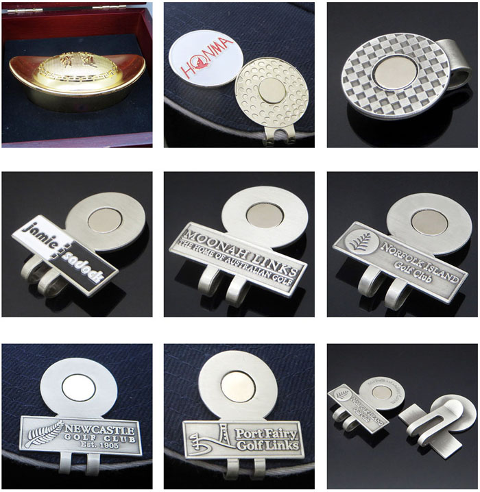 Club souvenir gift portable metal golf divot tool with ball marker with custom logo