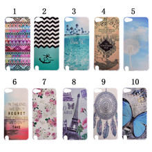 Wholesale Premium UV Colorful Printing PC Phone Case Cover for Apple iPod Touch 5 with Transparent Frosted Shell