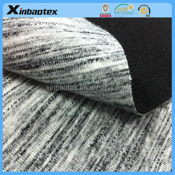 3 layers functional laminated Double color jersey bonded with Warp Knitting fabric