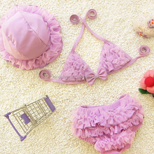 KS30314A cute baby girls 3 piece swimear bikini set swimsuit (Toddler/little kid/big kid)