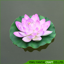 Fashion beautiful indoor decorations artificial flowers EVA floating lotus