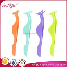 Stainless steel Top quality colorful eyelash applicator tweezers