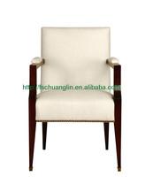 CL-1119 Hotel restaurant furniture Modern wood dining chair wood arm chair
