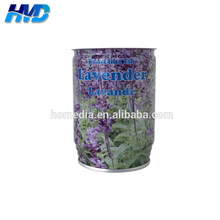 691# Empty lavender plant seeds flower tin can