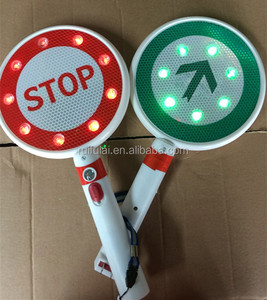 Handheld traffic safety control electronic stop sign