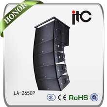 Simple and style appearance24 inch subwoofer line array speaker