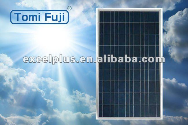 150w low price high efficiency photovoltaic poly crystalline solar module for home use