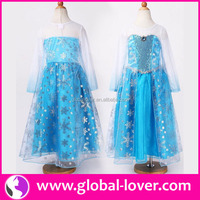 2016 hot selling frozen elsa coronation dress costume cosplay for child