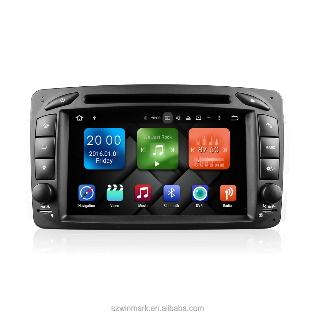 "7"" Car GPS Navigation Android7.1.2 multimedia DVR DAB+ bluetooth for W203 W209 <strong>W163</strong> Viano WE7063"