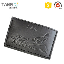 Trade Assurance famous brand luggage logo fake pu leather clothing patch label patches
