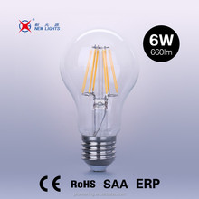 UL approved two-years warranty A60 led filament bulb dimmable A19 ceiling light 2700k 6500k