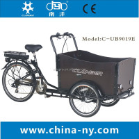 Green three wheels Electric cargobike/bicycles with three wheels/cargo trike