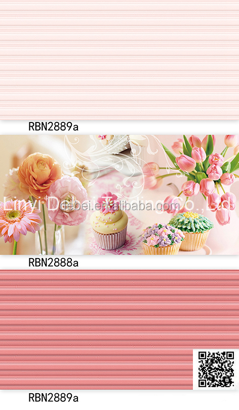pink color flower latest design kids bathroom wall tile 20x30