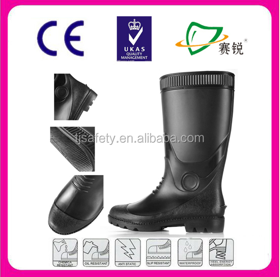 high quality comfortable cheap pvc rain boots